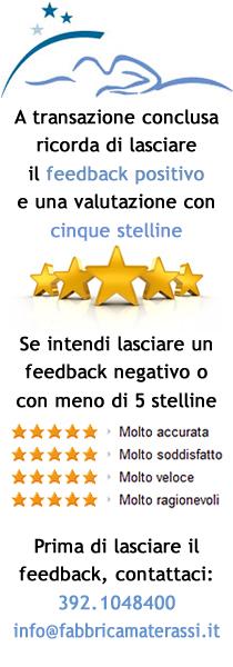 Contattaci prima di lasciare un feedback non positivo o con stelline basse